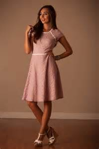 pink lace cute modest dress down east basics trendy