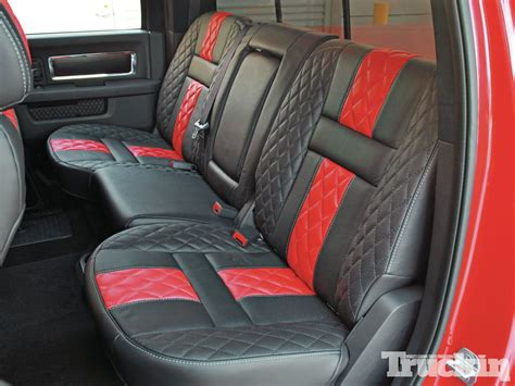 custom bench seats for trucks elegance is only a stitch away custom interior truckin