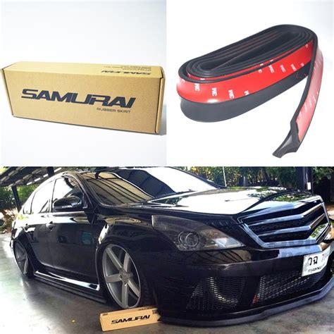 Diskon Universal Samurai Car Bumper Skirt Protector 2 Color Bla aliexpress buy new universal 2 5meters black samurai front bumper lip spoiler rubber
