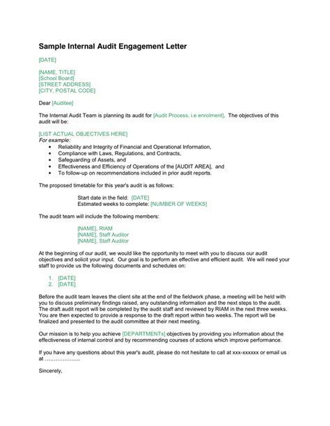 internal audit engagement letter word formats