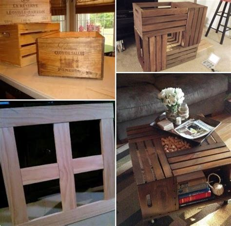 wine crate coffee table diy ideas how to make a coffee table from wine crates home design