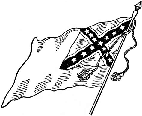 free coloring pages of confederate flag