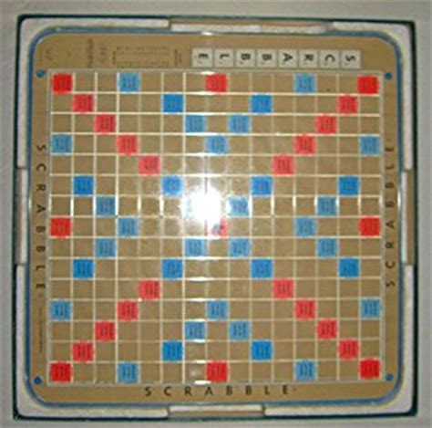 turntable scrabble board scrabble deluxe 1977 edition plastic rotating