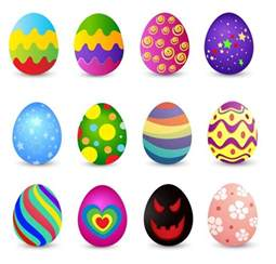 colored easter eggs colored easter eggs vector