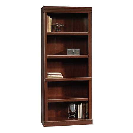 sauder heritage hill open bookcase classic cherry office