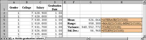 sle variance sle variance equation excel