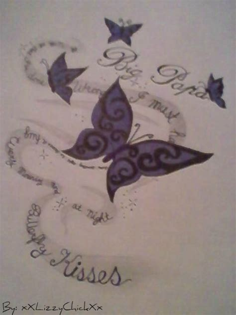 butterfly kisses tattoo butterfly kisses by xxlizzychickxx on deviantart