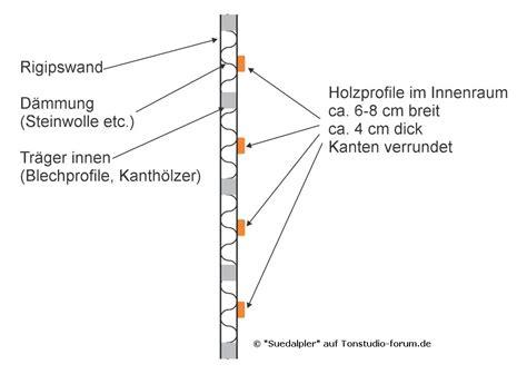 Rigipswand Selber Bauen by Rigipswand D 228 Mmung Holzprofile Gesangskabine Bauen