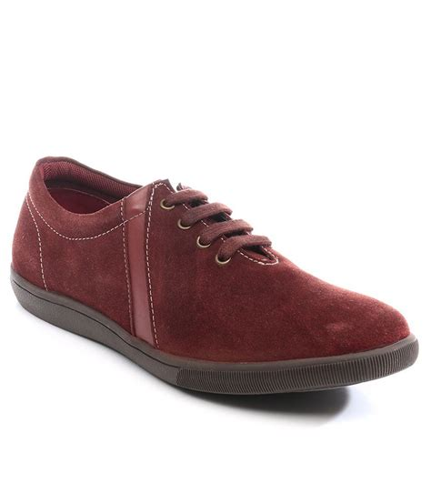 buy high maroon casual shoes for snapdeal