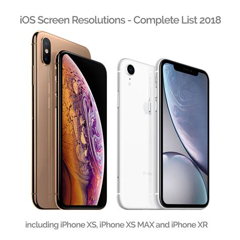 all ios screen resolution sizes 2019 for devs iphone xs xs max xr risinghigh