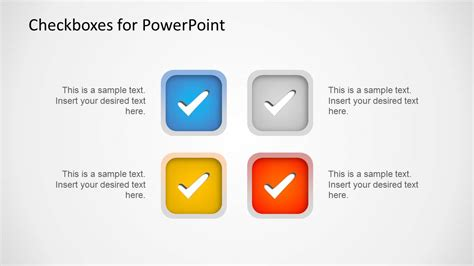 Checkboxes Template For Powerpoint Slidemodel For Powerpoint