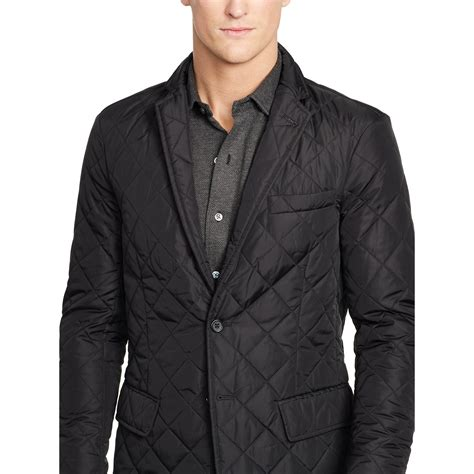 Mens Quilted Sport Coat polo ralph quilted sport coat in black for lyst