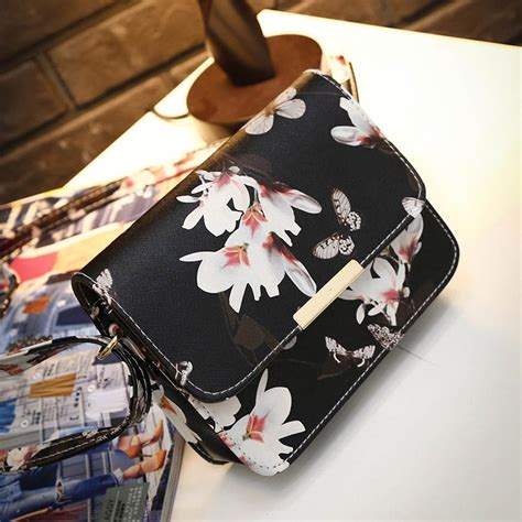 Tas Zara Satchel Top Handle Messenger Crossbody Bag Import Murah floral leather shoulder bag satchel handbag retro messenger bag designer clutch