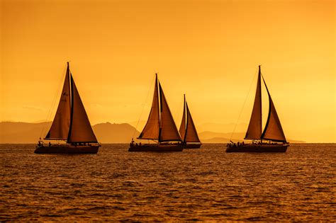 sailboat in wind what s better than sailing in the sunset with maestral wind