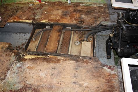 fishing boat floor repair repairing replacing soggy runabout floor the hull truth