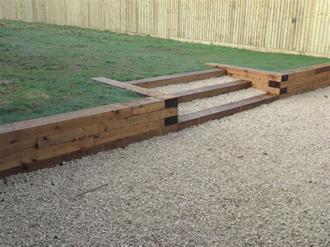 Sleeper Retaining Wall Ideas by Retaining Walls Sleepers I Like This Better Then Bricks
