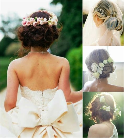 Wedding Hairstyles Up With Flowers by Wedding Hairstyles Up With Flowers Http Refreshrose