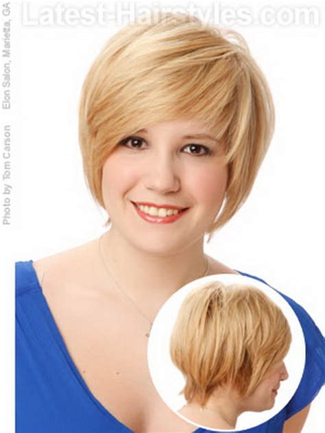 cute hairstyles round face cute short haircuts for round faces