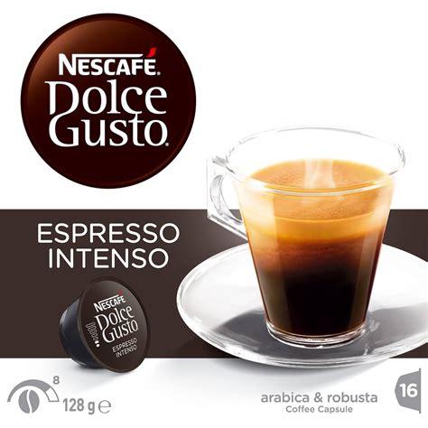 dolce gusto espresso intenso nescafe dolce gusto coffee capsules espresso intenso 16pk