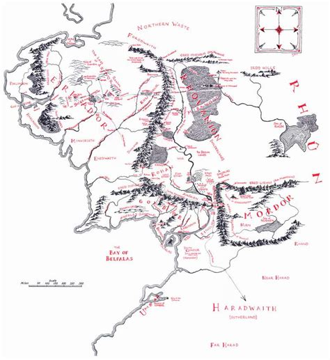tolkien middle earth map the lord of the rings maps