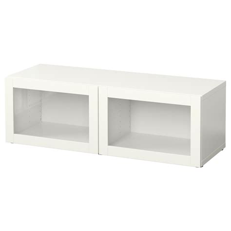 besta unit best 197 shelf unit with glass doors sindvik white 120x40x38