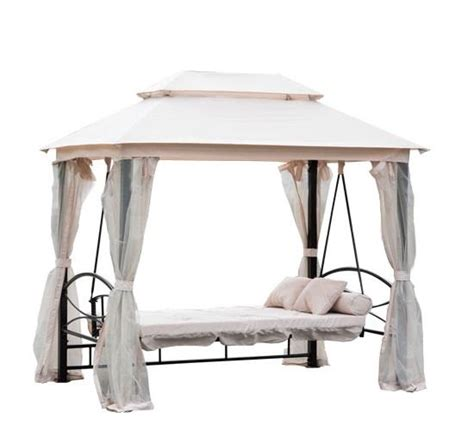 Patio Swing Daybed With Canopy 3 Person Patio Daybed Canopy Gazebo Swing