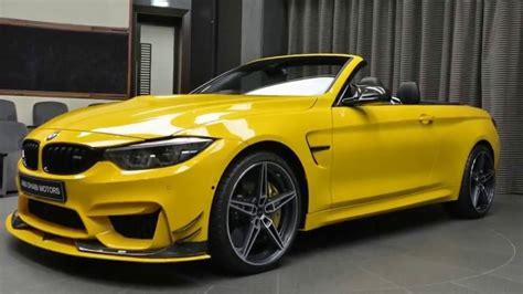ac schnitzer bmw  convertible speed yellow youtube