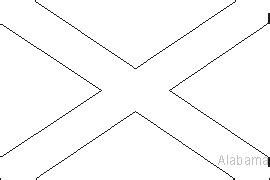 alabama state flag coloring pages usa for kids