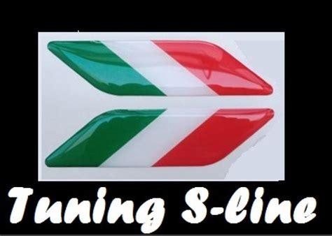 Länder Aufkleber Auto Italien by Adesivo Stickers 3d Sticker Italia X 2 Pz Flag Bandiera
