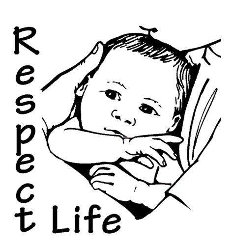 coloring pages respect free respect life images clipart best