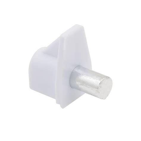 prestige white plastic shelf supports 50 pack bunnings