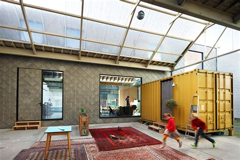 home warehouse design center big bomastraat belgian warehouse home shelters three shipping containers inside nu