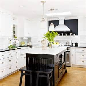 white kitchen cabinets with black island 25 beautiful black and white kitchens the cottage market