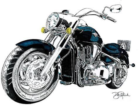 Harley Davidson Drawings by Harley Davidson Drawing By Bill Richards