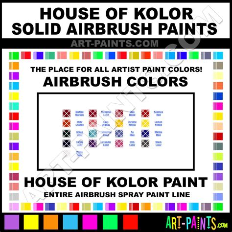 Upholstery Spray Paint Michaels House Of Kolor Solid Airbrush Spray Paint Colors House