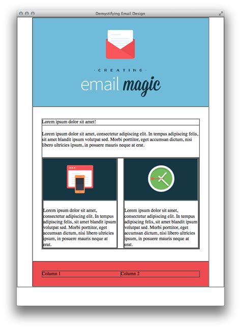 Build An Html Email Template From Scratch Two Column Html Email Template