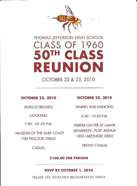 50th Class Reunion Invitations Class Reunion Invitation Template