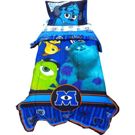 monsters inc bedding 4pc disney monsters inc twin bedding set scare u mike