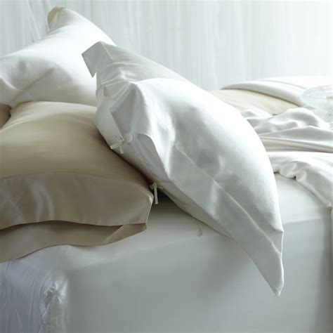 silk bed pillows silk pillow shams from manito luxury silk bedding