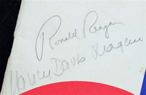 nancy reagan signature lot detail ronald reagan nancy reagan rare dual signed