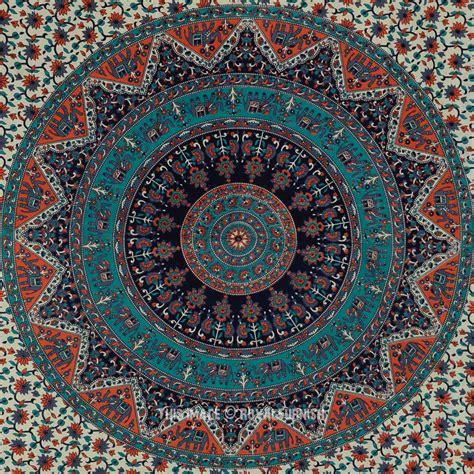 Boho Gypsy Home Decor by Gray Multicolor Bohemian Mandala Cloth Fabric Tapestry