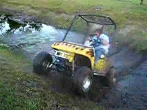 lifted golf cart mudding  youtube