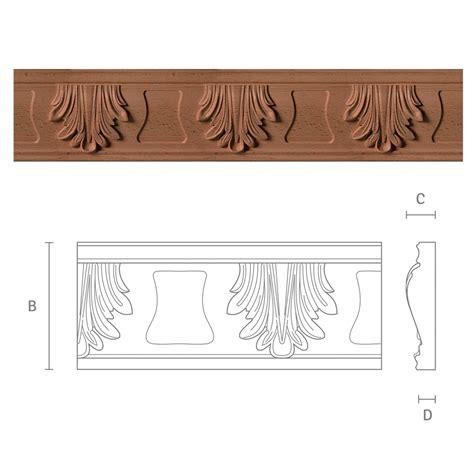 gesimse aus holz zierleisten f 252 r m 246 bel mit akanthus motiv gr3 kwasny carvings