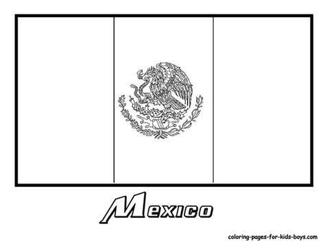 mexico flag coloring page with key mexico flag coloring pages kids culture class