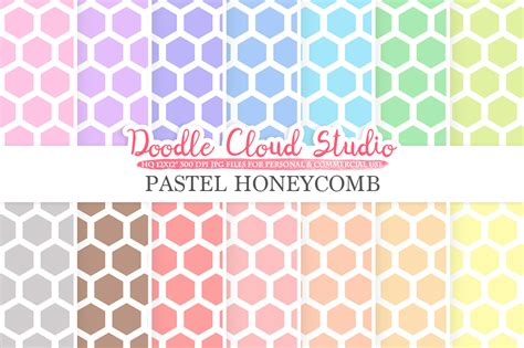 pastel pattern paper pastel honeycomb digital paper beehive pattern digital