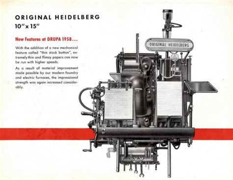 Original Heidelberg Compression 6 the original heidelberg press spiegl press