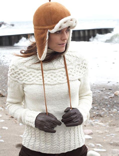 knitting patterns winter sweaters winter wonder cabled yoke sweater allfreeknitting com