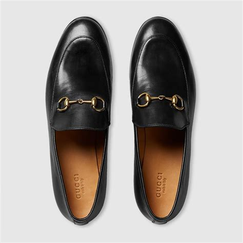 Guci Leather gucci gucci jordaan leather loafer