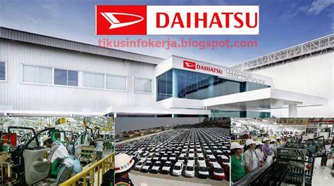 info kerja pt astra daihatsu motor lowongan februari 2016
