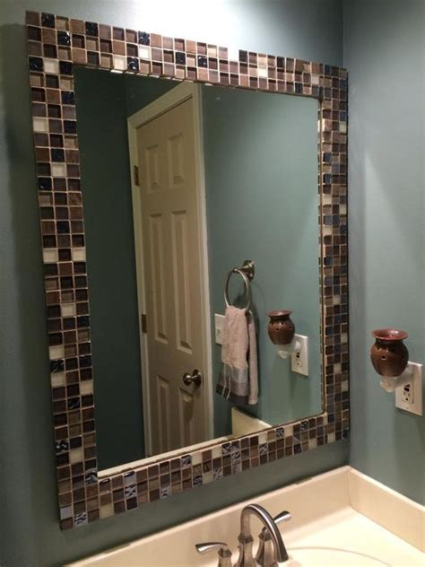 how to frame a bathroom mirror over plastic clips a to z with a little j mirror makeover for the home
